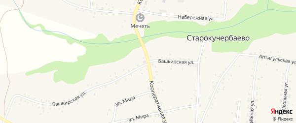 Кооперативная улица на карте села Старокучербаево с номерами домов