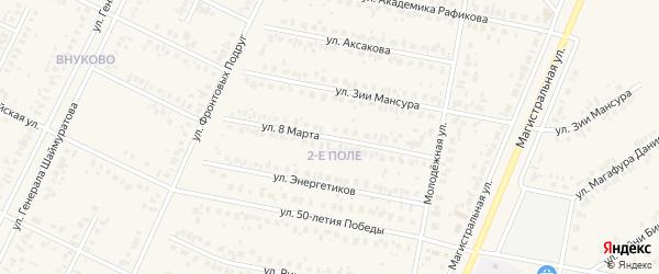 Улица 8 Марта на карте Дюртюлей с номерами домов