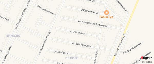 Улица Аксакова на карте Дюртюлей с номерами домов