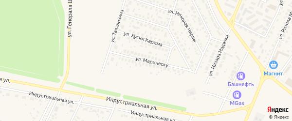 Улица Маринеску на карте Дюртюлей с номерами домов