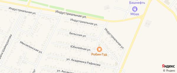 Бельская улица на карте Дюртюлей с номерами домов