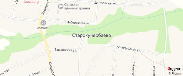 Нагорная улица на карте села Старокучербаево с номерами домов