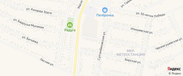 Улица Батырши на карте Дюртюлей с номерами домов