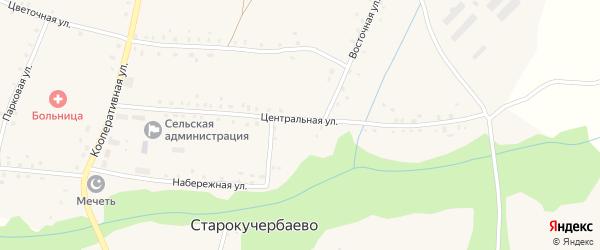 Центральная улица на карте села Старокучербаево с номерами домов