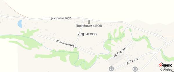 Журавлиная улица на карте деревни Идрисово с номерами домов