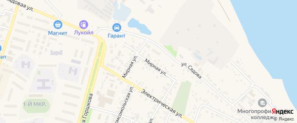 Мирная улица на карте Дюртюлей с номерами домов