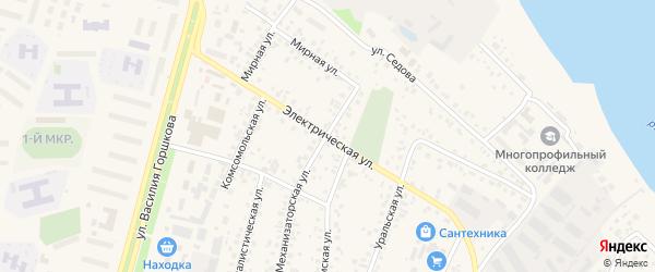 Электрическая улица на карте Дюртюлей с номерами домов