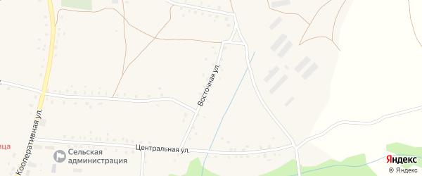 Восточная улица на карте села Старокучербаево с номерами домов