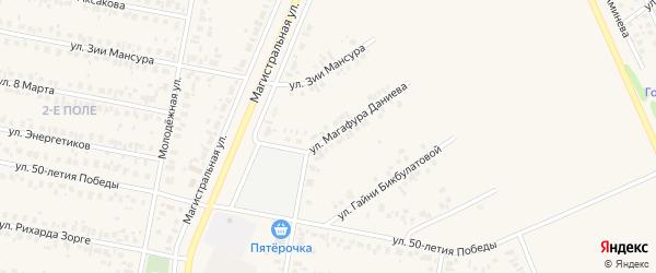 Улица Магафура Даниева на карте Дюртюлей с номерами домов