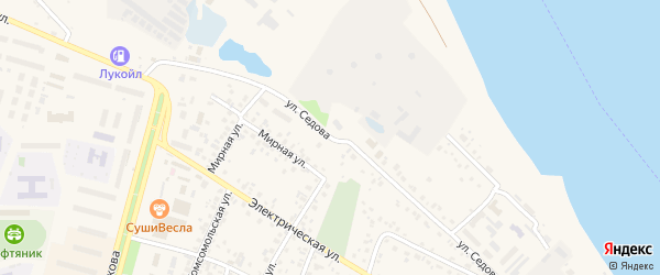 Улица Седова на карте Дюртюлей с номерами домов
