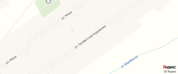 Улица Профессора Кудаярова на карте села Аблаево с номерами домов