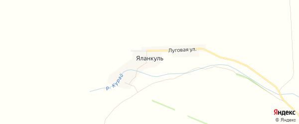 Карта деревни Яланкуля в Башкортостане с улицами и номерами домов