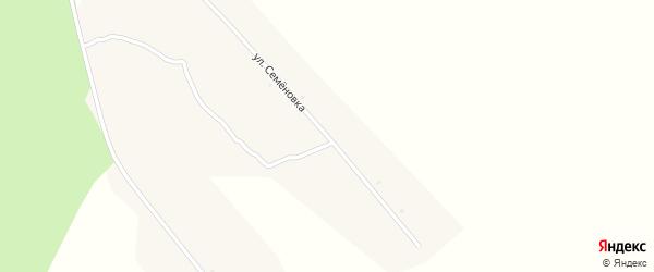 Улица Семеновка на карте деревни Тарасовки с номерами домов