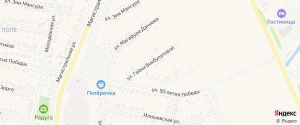 Улица Гайни Бикбулатовой на карте Дюртюлей с номерами домов