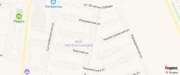 Чекмагушевская улица на карте Дюртюлей с номерами домов