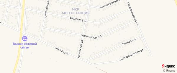 Чишминская улица на карте Дюртюлей с номерами домов