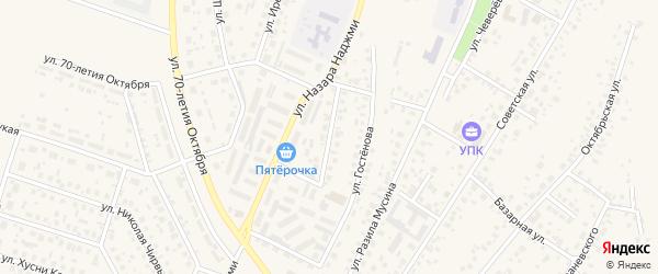 Пионерская улица на карте Дюртюлей с номерами домов