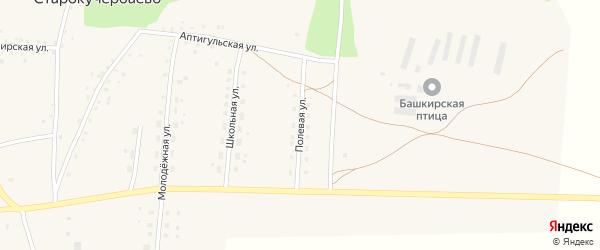 Полевая улица на карте села Старокучербаево с номерами домов