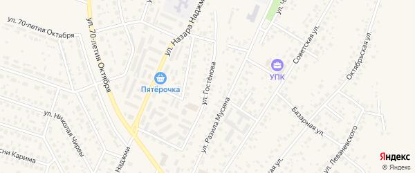 Улица Гостенова на карте Дюртюлей с номерами домов