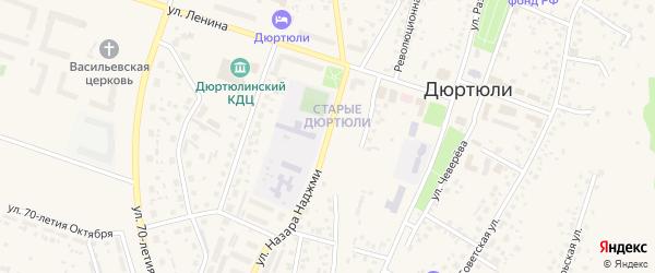 Улица Назара Наджми на карте Дюртюлей с номерами домов