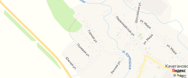 Горная улица на карте села Качеганово с номерами домов