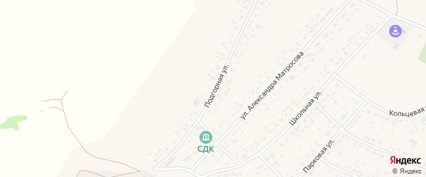 Подгорная улица на карте села Раевского с номерами домов