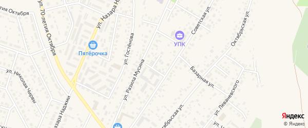 Водопроводный переулок на карте Дюртюлей с номерами домов