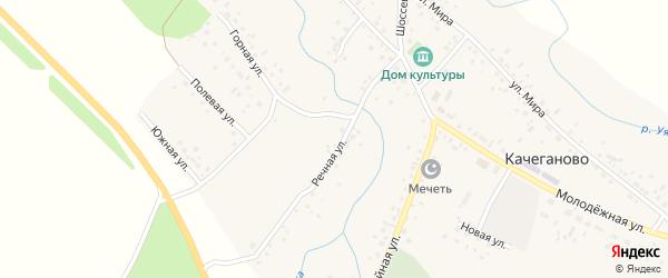 Прудная улица на карте села Качеганово с номерами домов