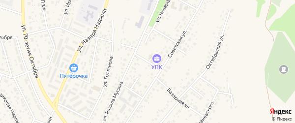 Риковский переулок на карте Дюртюлей с номерами домов