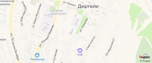 Улица Разила Мусина на карте Дюртюлей с номерами домов