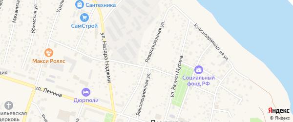 Революционная улица на карте Дюртюлей с номерами домов