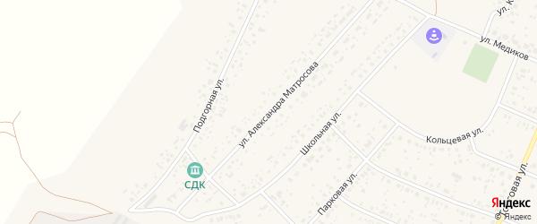 Улица Александра Матросова на карте села Раевского с номерами домов