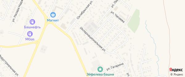 Интернациональная улица на карте Дюртюлей с номерами домов