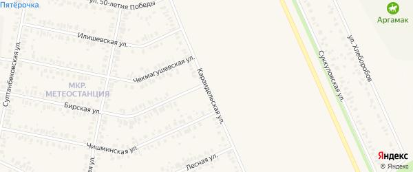 Караидельская улица на карте Дюртюлей с номерами домов