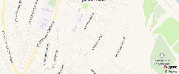 Милицейский переулок на карте Дюртюлей с номерами домов