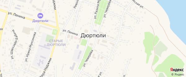 Хайбуллинская улица на карте Дюртюлей с номерами домов