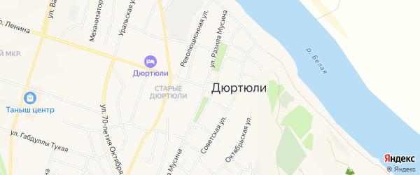 ГСК Нефтяник на карте Дюртюлей с номерами домов