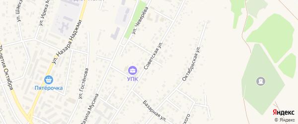 Советская улица на карте Дюртюлей с номерами домов