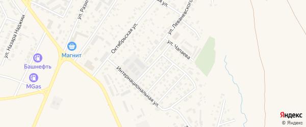 Высоковольтная улица на карте Дюртюлей с номерами домов