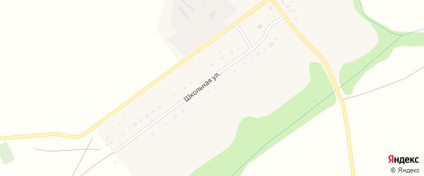 Школьная улица на карте села Новоалександровки с номерами домов