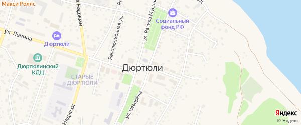 Улица Чеверева на карте Дюртюлей с номерами домов