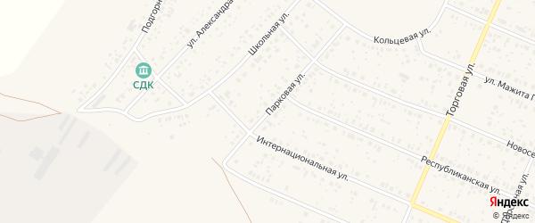 Парковая улица на карте села Раевского с номерами домов