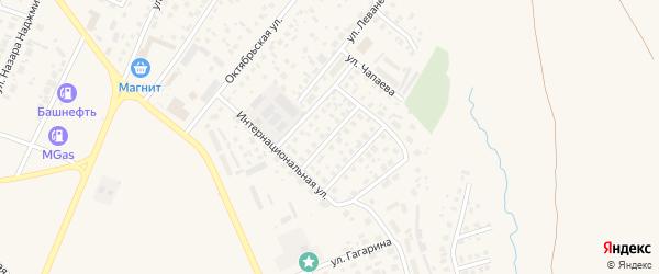 Улица Косыгина на карте Дюртюлей с номерами домов