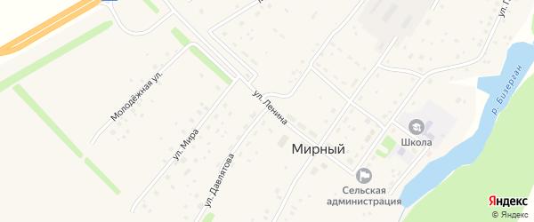 Улица Ленина на карте села Мирного с номерами домов