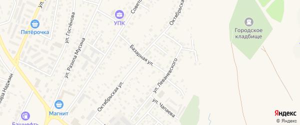 Базарная улица на карте Дюртюлей с номерами домов