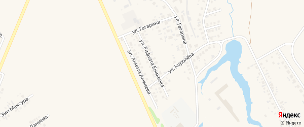 Улица Рифхата Еникеева на карте Дюртюлей с номерами домов