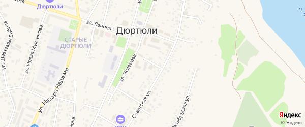 Школьный переулок на карте Дюртюлей с номерами домов