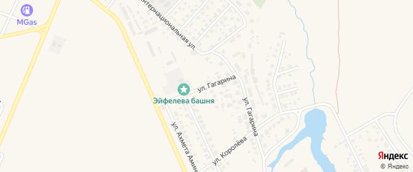 Улица Гагарина на карте Дюртюлей с номерами домов
