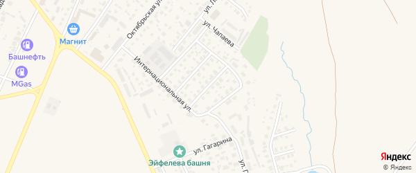 Улица Сергея Мешкова на карте Дюртюлей с номерами домов