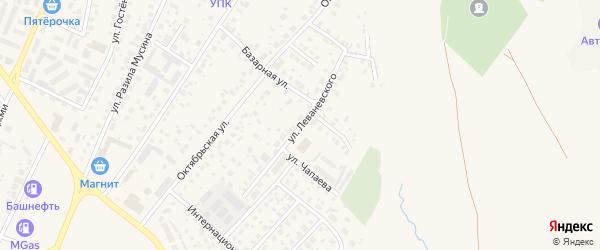 Улица Леваневского на карте Дюртюлей с номерами домов
